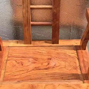 巴西花梨木老板椅 巴花办公桌椅组合