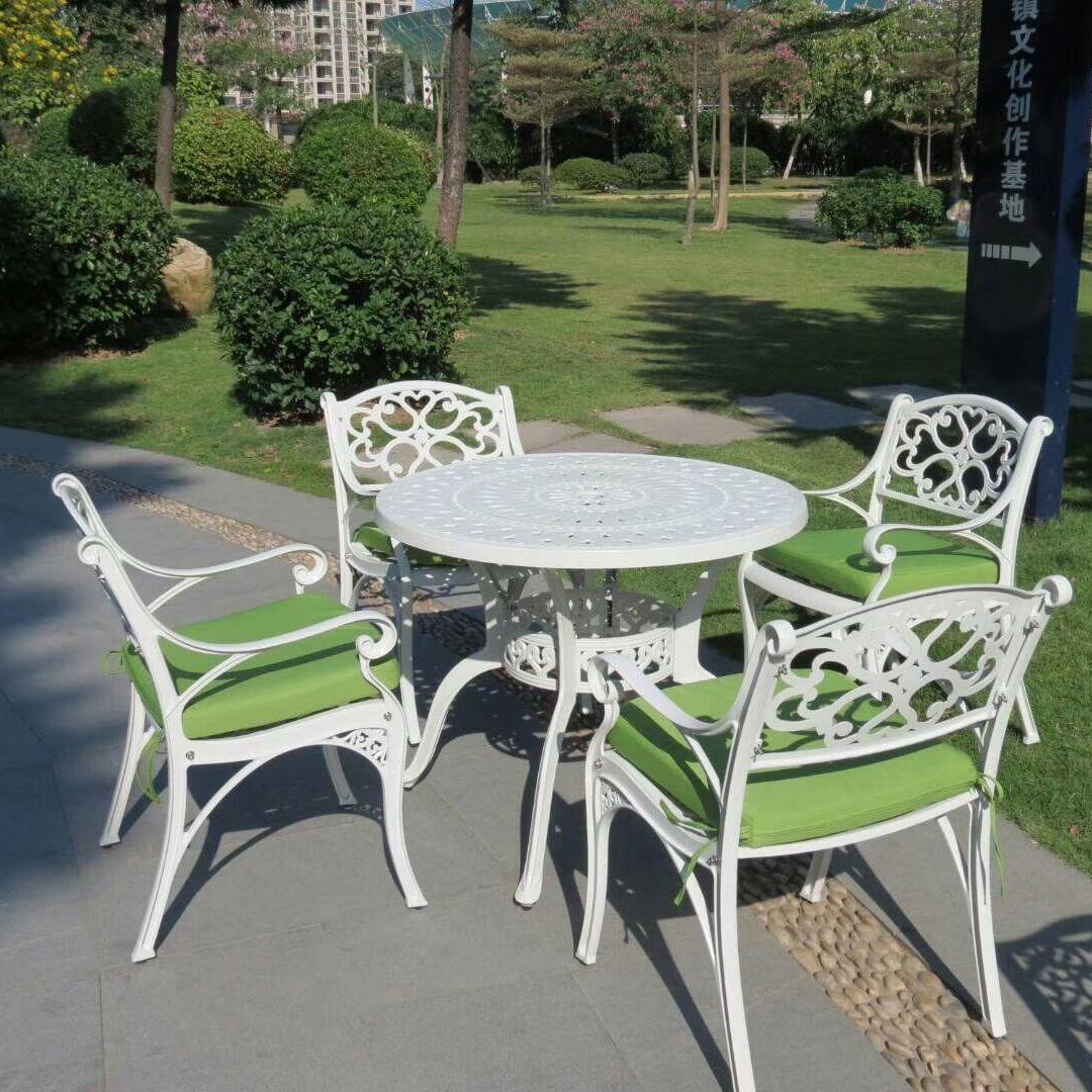 家具餐桌椅铁艺庭院桌椅 白色桌椅好看 商家报价