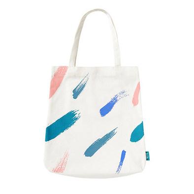 供应 帆布包女单肩手提环保袋便携折叠大容量购物袋布袋