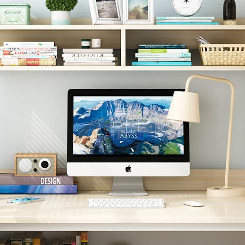 供应 学生桌面书柜简易办公桌