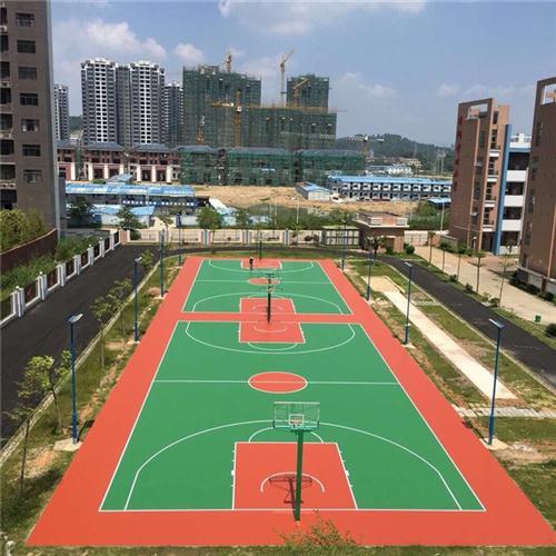 吉安篮球场施工,新余篮球场施工,特冠体育承接篮球场施工