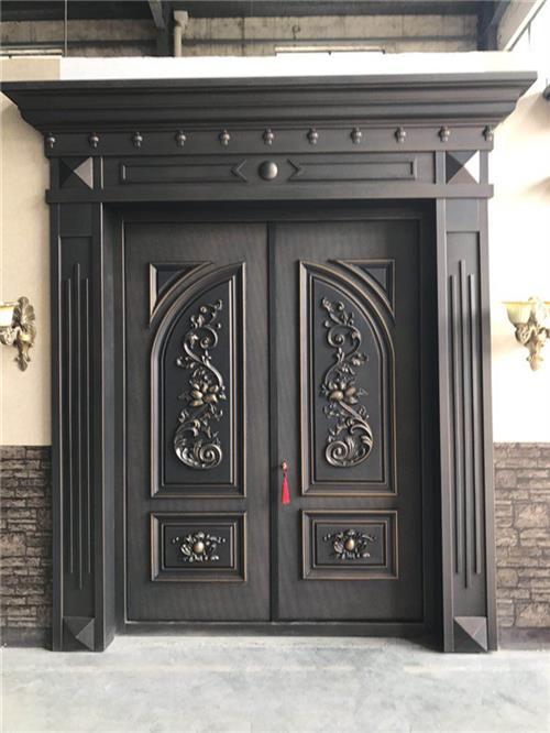 江盾门业(在线咨询)|铸铝别墅庭院门|铸铝别墅庭院门定制