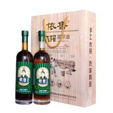 依鲁木榨菜籽油礼品盒 750mlX2  地道正宗老味道食用油