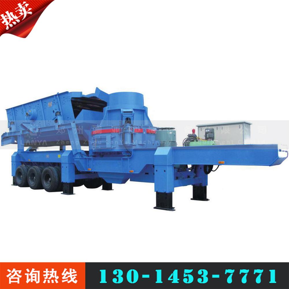 厂家直销可移动式制砂机-流动式石头破碎机-支持定制移动制砂车
